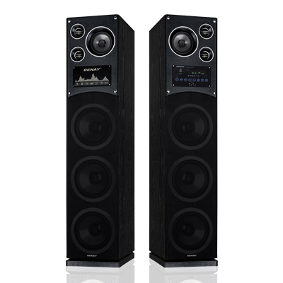 اسپیکر ایستاده 3 ساب 8 دنای مدل DE-3080PW(MP3)