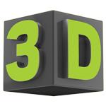 تصویر سه بعدی تلویزیون 43 اینچ دنای